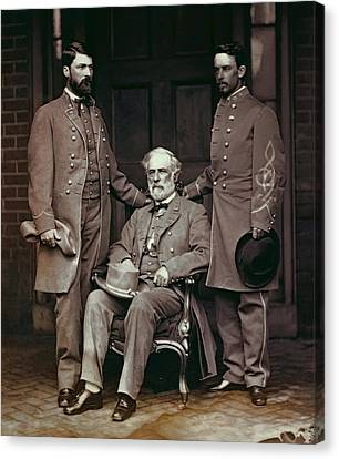 General Robert E. Lee And Staff  1865 Canvas Print