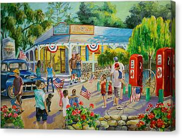 General Store After July 4th Parade Canvas Print by Jan Mecklenburg