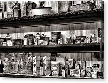 General Store Shelves Canvas Print by Olivier Le Queinec