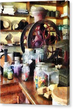 General Store With Candy Jars Canvas Print by Susan Savad