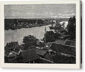General View Of Bankok And The Menam River Canvas Print