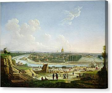 General View Of Paris From The Chaillot Hill, 1818 Oil On Canvas Canvas Print by Seyfert