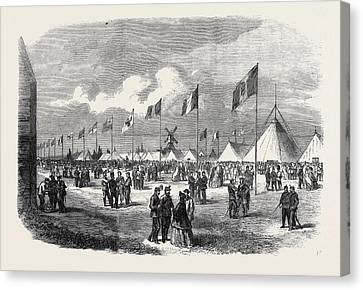 General View Of The Ground And Tents National Rifle Canvas Print