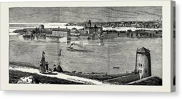 General View Of Wolfe Island, British Naval Defences Canvas Print by Litz Collection