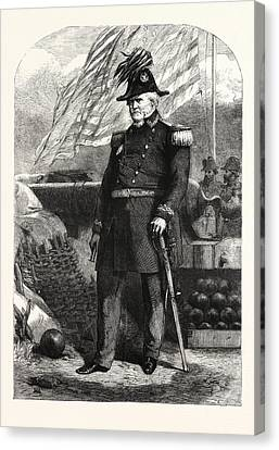 General Winfield Scott Commander-in-chief Of The United Canvas Print by American School