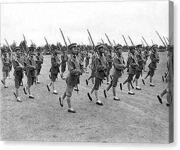General Wu Pei-fu Troops Canvas Print by Underwood Archives