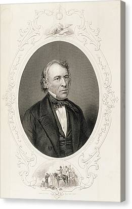 General Zachary Taylor, From The History Of The United States, Vol. II, By Charles Mackay, Engraved Canvas Print by Mathew Brady