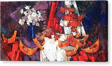 Canvas Print featuring the painting Generous August. by Anastasija Kraineva