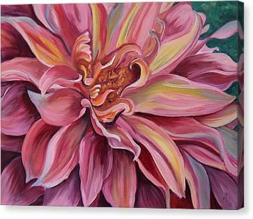 Generous Pink Canvas Print by Trina Teele