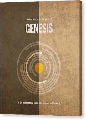 Genesis Books Of The Bible Series Old Testament Minimal Poster Art Number 1 Canvas Print by Design Turnpike