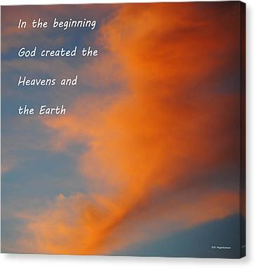 Genesis Canvas Print by DiDi Higginbotham