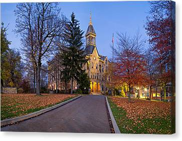 Allegeny River Canvas Print - Geneva College by Emmanuel Panagiotakis