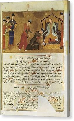 Gengis Khan 1162-1227. Emperor Founder Canvas Print