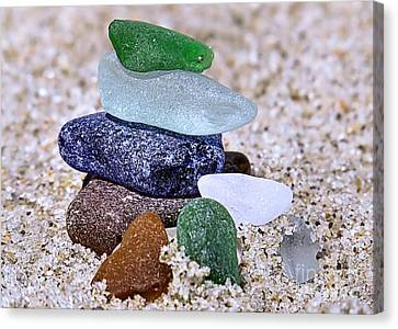 Genuine Sea Glass Canvas Print by Janice Drew