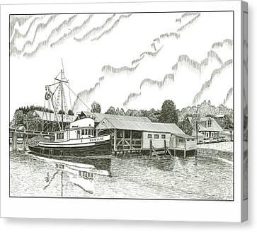 Genius Fishing Trawler Gig Harbor Canvas Print
