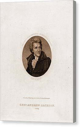 Genl. Andrew Jackson, 1828. Protector & Defender Of Beauty Canvas Print