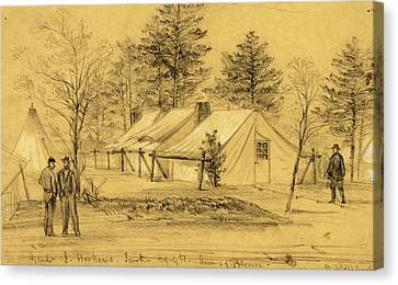 Genl. J. Hookers. Tent Hdqts. Army Of Potomac Canvas Print by Quint Lox
