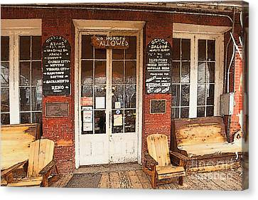Genoa Saloon Oldest Saloon In Nevada Canvas Print by Artist and Photographer Laura Wrede