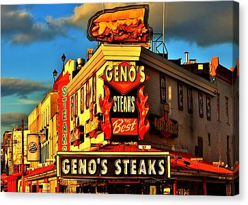 Geno's Canvas Print by Benjamin Yeager