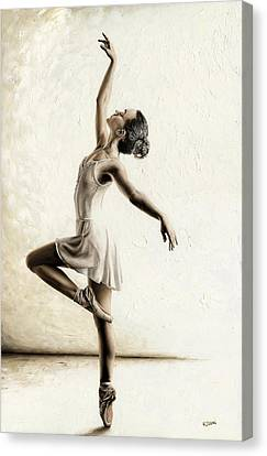 Ballerinas Canvas Print - Genteel Dancer by Richard Young