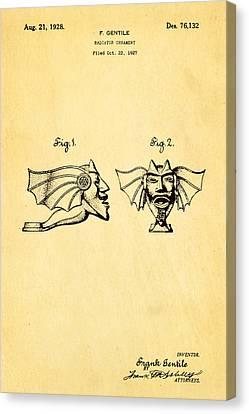 Gentile Radiator Ornament Patent Art 1928 Canvas Print by Ian Monk