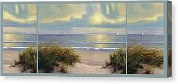 Gentle Breeze Trip Tych Canvas Print