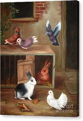 Canvas Print featuring the painting Gentle Creatures by Hazel Holland