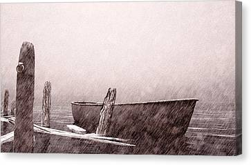 Drifting Snow Canvas Print - Gentle Current by Bob Orsillo
