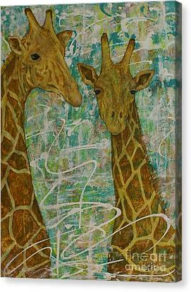 Canvas Print featuring the painting Gentle Giants by Jane Chesnut