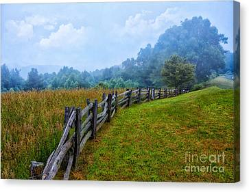 Gentle Morning - Blue Ridge Parkway I Canvas Print