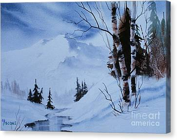 Gentle Mountains Canvas Print by Teresa Ascone