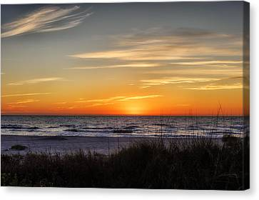 Southwest Florida Sunset Canvas Print - Gentle Wave Sunset by Frank J Benz