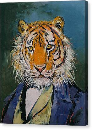 Gentleman Tiger Canvas Print by Michael Creese