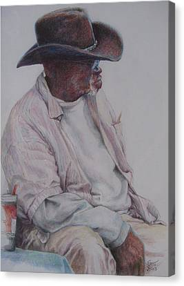 Gentleman Wearing The Dark Hat Canvas Print