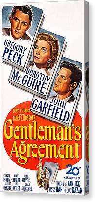 Gentlemans Agreement, Us Poster Canvas Print by Everett