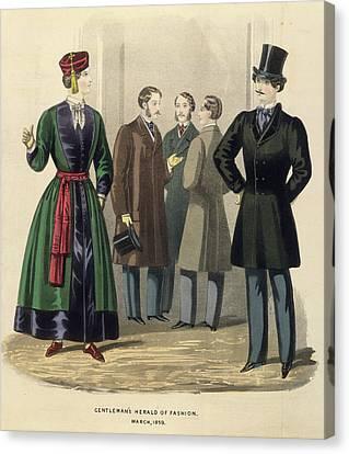 Gentleman's Fashion Canvas Print by British Library