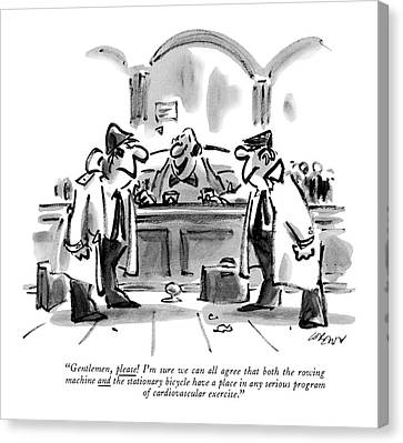 1984 Canvas Print - Gentlemen, Please! I'm Sure We Can All Agree That by Lee Lorenz