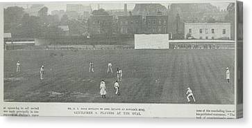 Gentlemen Versus Players At The Oval Canvas Print by British Library
