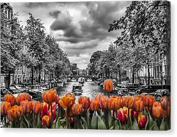 Gentlemen's Canal  Amsterdam Canvas Print by Melanie Viola