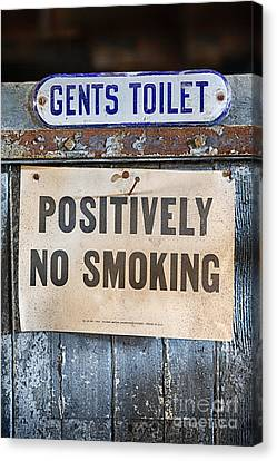 Gents Toilet Canvas Print by Jerry Fornarotto