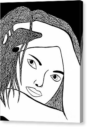 Canvas Print featuring the drawing Genuine by Jamie Lynn