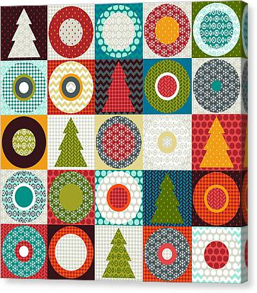 Pattern Canvas Print - Geo Christmas by Sharon Turner