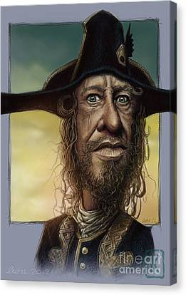 Geoffrey Rush Canvas Print by Andre Koekemoer