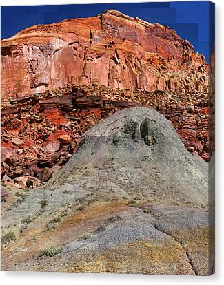 Geology Triptych - One Canvas Print
