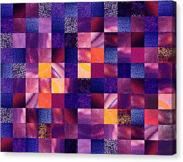 Geometric Abstract Design Purple Meadow Canvas Print