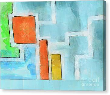 Geometric Abstract Canvas Print by Pixel Chimp