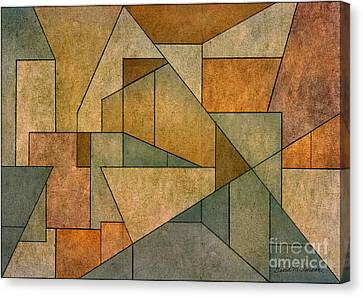 Geometric Abstraction Iv Canvas Print by David Gordon