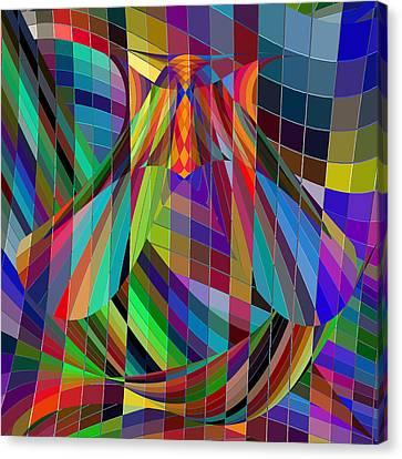 Geometric Alien Fly Canvas Print by Stephanie Grant