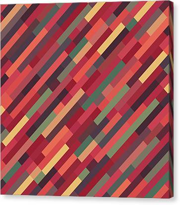 Canvas Print featuring the digital art Geometric Block by Mike Taylor