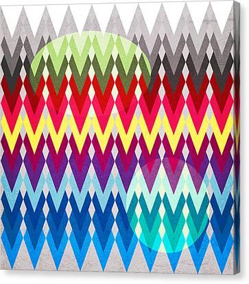 Geometric Canvas Print - Geometric Colors  by Mark Ashkenazi
